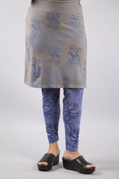 Layer Skirt Soot with floral blues 4169-P