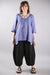 Relaxed Linen Top-Dark Periwinkle 2183-P