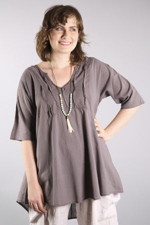 Dawn Clouds Lawn Tunic 2244-Sandstar-U