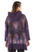5261 New Rib Zipper Hoodie Purple- Winged Arabesque