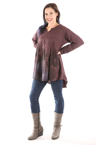 2276 Plaid Bliss Top- Sumac