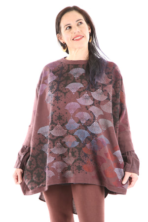 2210 Cozy Fleece Square Sweatshirt -Sumac-Nouveau Shadow Fan