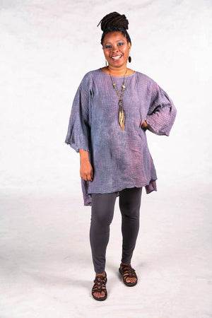 2282 Hand Dyed Ana Tunic Dusk/Purple Gray