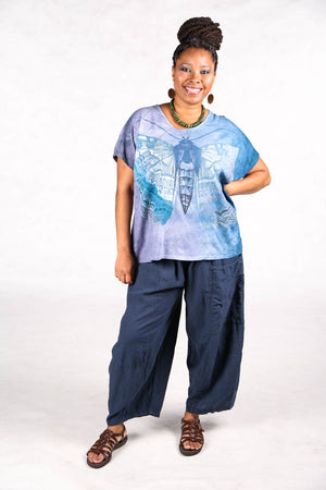1250 HD Hand Dyed Moon Tee Sky Butterfly-P