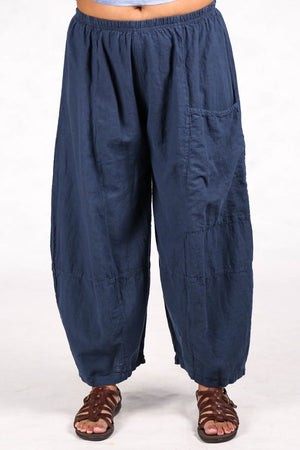 3289 Four Square Pant Indigo Unprinted