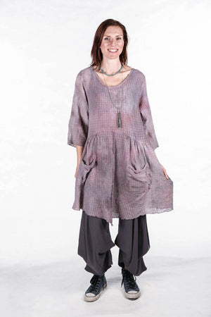 2259 Hand Dyed 2 Pocket Epic Tunic Antique