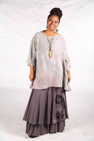 2282 Hand Dyed Ana Tunic Antique/ Light Neutral