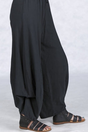 3142 Organic Cotton Billow Lounge Pant-Black-UnPrinted