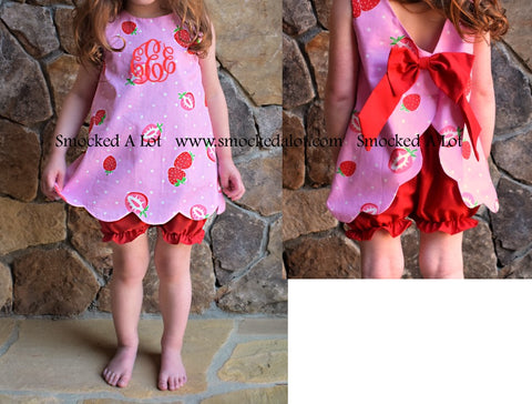 Strawberry Monogrammed Swing Bloomer Set