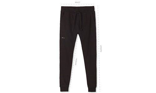 Men's Jogger Pants Size Guide by BYLT Premium Basics