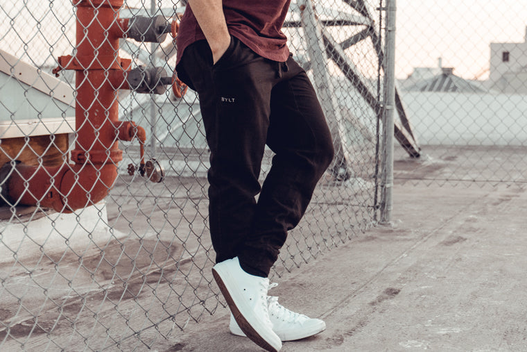 Men's Jogger Pants by BYLT, made for a comfortable fit for the modern man.