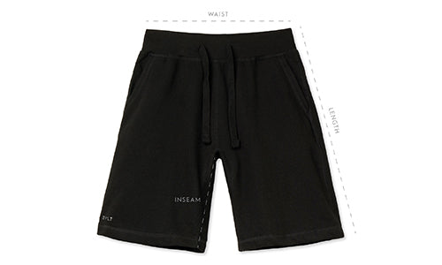 Men's Jogger Shorts Size Guide by BYLT Basics
