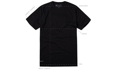 Men's Premium Crew T-Shirt Size Guide