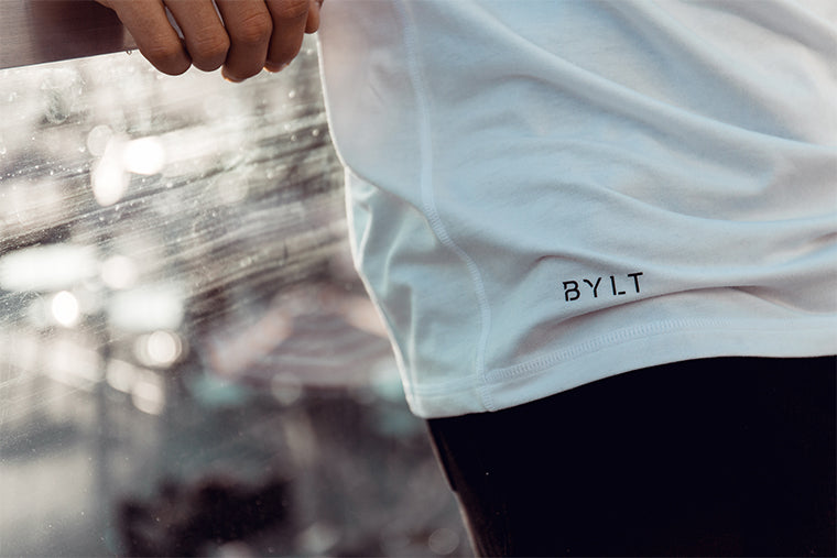 Men's White Premium V-Neck T-Shirt from BYLT Basics