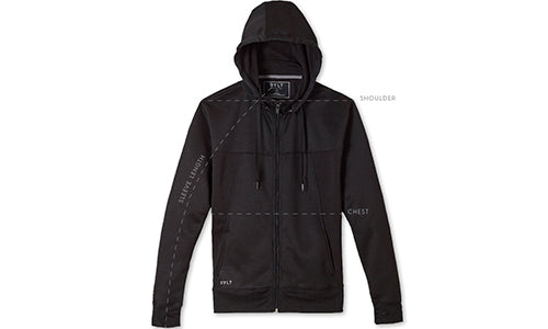 Men's Premium Tech Jacket Size Guide