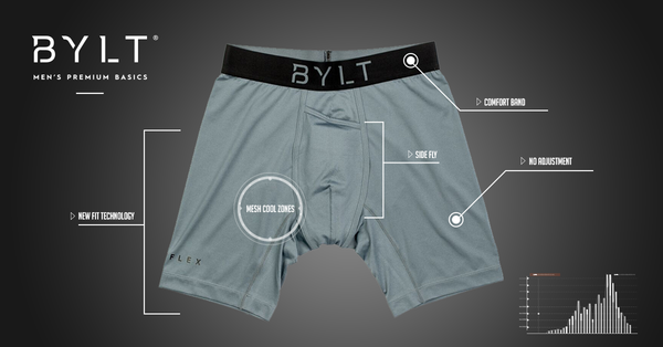 Men's Flex Trunk boxer briefs Designed for comfort and performance by BYLT Basics.