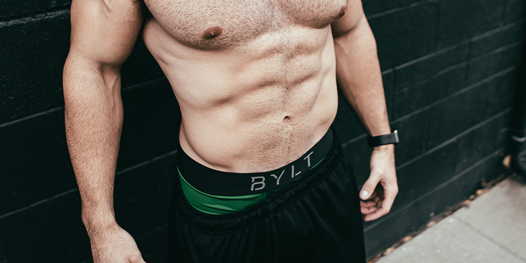 BYLT men's Flex trunk boxer briefs with flexibility and durability.