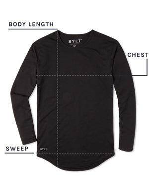 Drop-Cut Long Sleeve Shirt