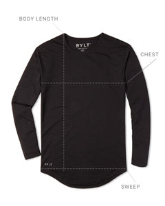Drop-Cut Long Sleeve Size Guide