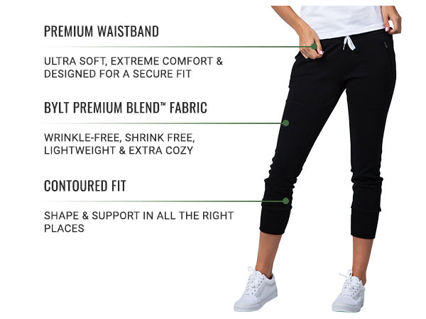 Women's Premium Joggers by BYLT Basics