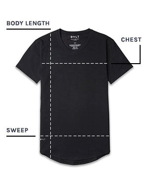 Drop-Cut V-Neck: LUX Size Chart