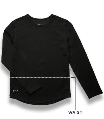Kids Drop-Cut Long Sleeve