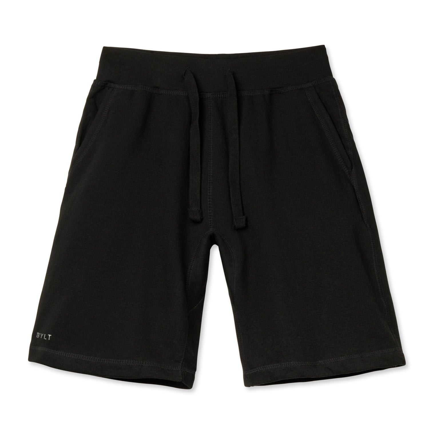 BYLT (BUILT) APPAREL BASICS JOGGER SHORTS BLACK.