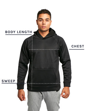 Tech Pullover Size Chart