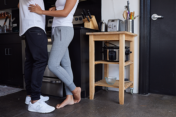 Women's Premium Joggers with Tapered Fit by BYLT Basics