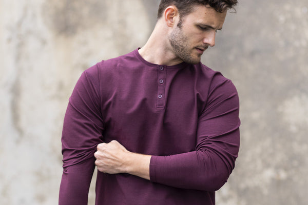 Athletic Fit | Henley Drop-Cut