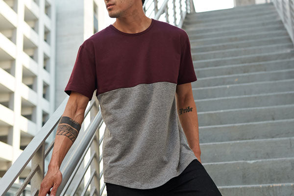 Paneled Drop-Cut Shirt | BYLT Basics