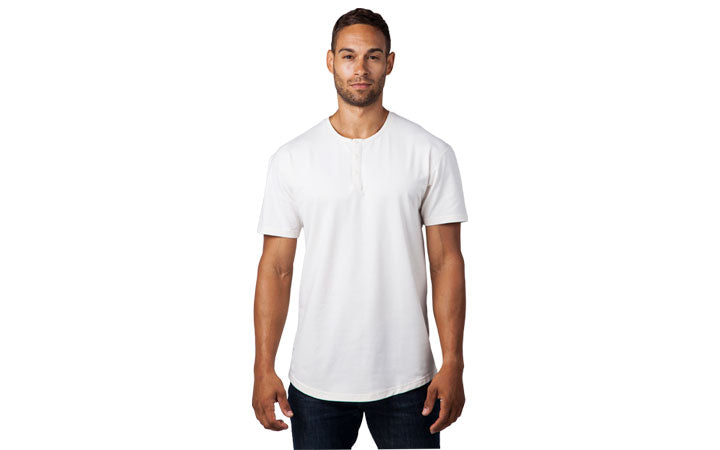 Henley Short Sleeved Drop Cut by BYLT Basics Information