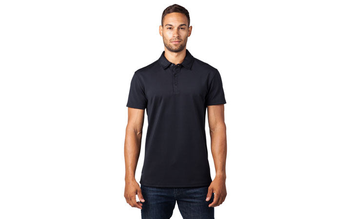 Tech Utility Polo Sizing on Model