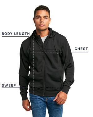 Tech Jacket Size Chart