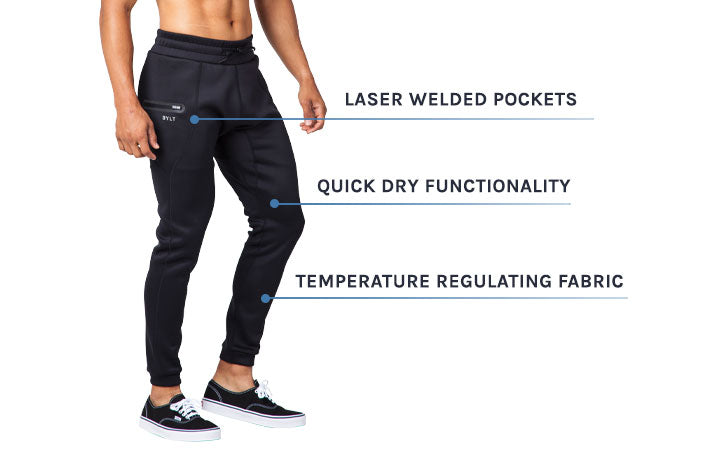 Men's Tech Joggers by BYLT Basics with Tech Blend Fabric