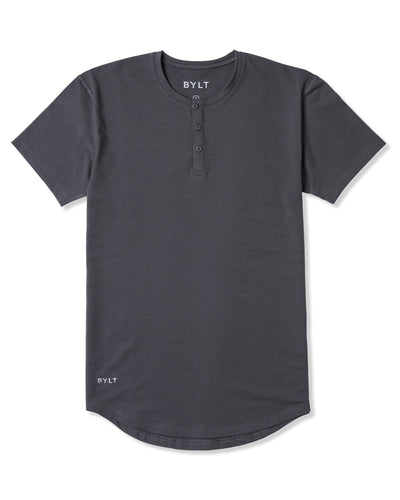 Henley Drop-Cut - 2019 Style - (FINAL SALE) Charcoal