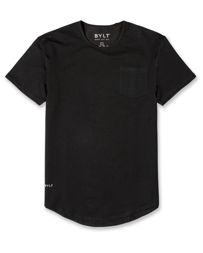 Drop-Cut Pocket Shirt (FINAL SALE) Black