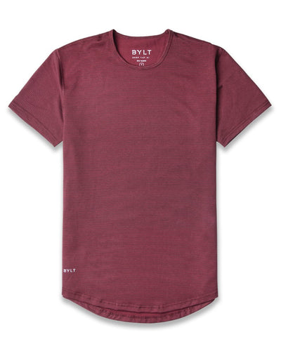 Drop-Cut Shirt - 2019 Style - (FINAL SALE) Stripe-Wine-Espresso