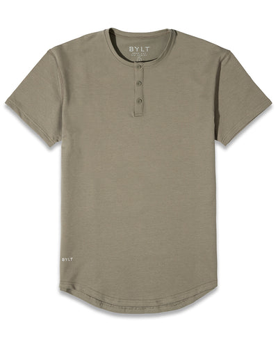Henley Drop-Cut: LUX <!-- Size S --> Olive