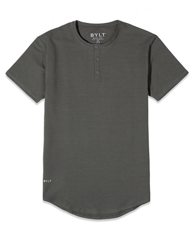 Henley Drop-Cut: LUX <!-- Size S --> Charcoal