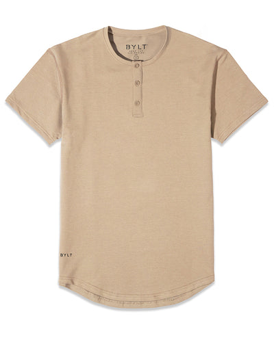 Henley Drop-Cut: LUX Sand