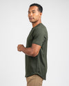 Henley Drop-Cut <!-- Size S --> Forest - Drop-Cut Henley