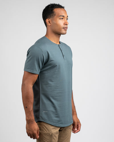 Henley Drop-Cut <!-- Size S --> Pacific - Drop-Cut Henley