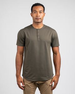Stone - Drop-Cut Henley