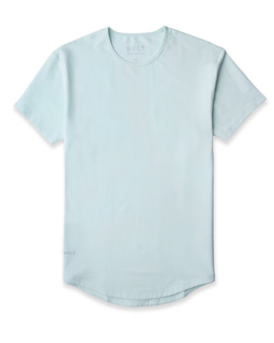 Drop-Cut Shirt <!-- Size S --> Sea Breeze - Drop-Cut Shirt