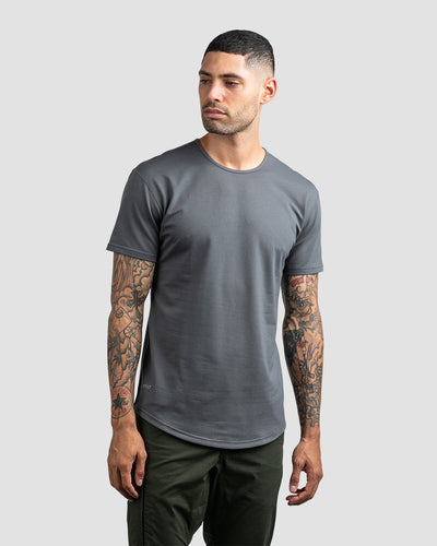 Drop-Cut Shirt <!-- Size S --> Charcoal - Drop-Cut Shirt