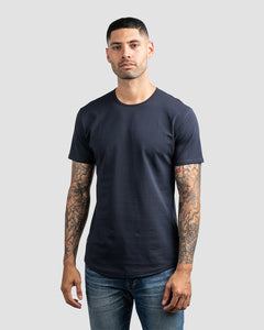 Navy - Drop-Cut Shirt