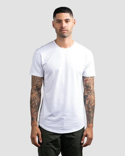 Drop-Cut Shirt <!-- Size S --> White - Drop-Cut Shirt