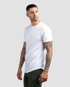 White - Drop-Cut Shirt