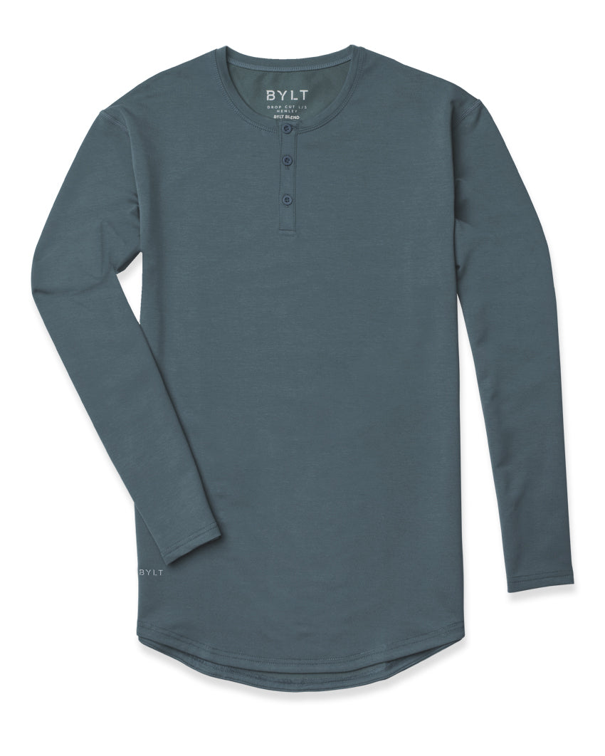 Pacific - Henley Drop-Cut Long Sleeve